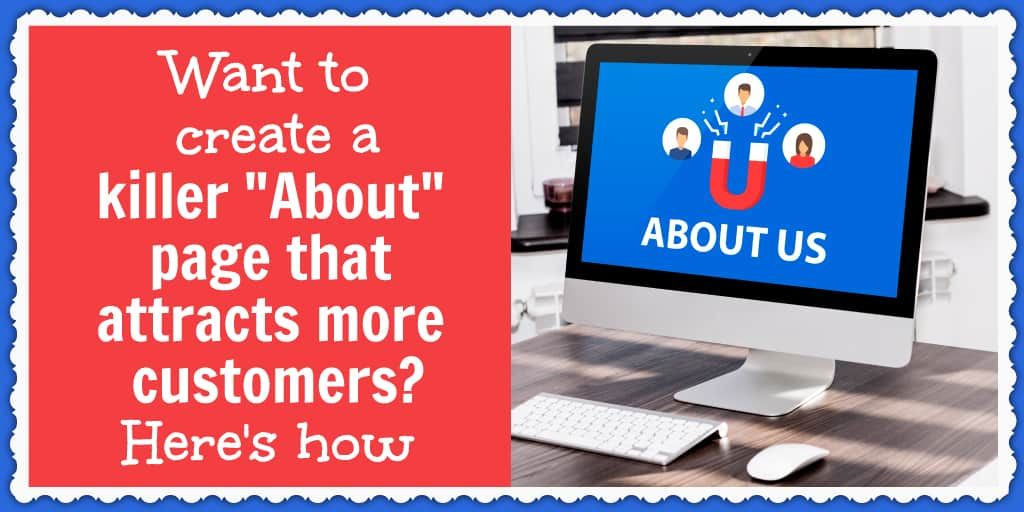 "Want to create a killer ""About"" page that attracts more customers? Here's how. https://buff.ly/2Xjv1Bx  #ecommerce @RachelRofepic.twitter.com/hbjwkJvcPi"