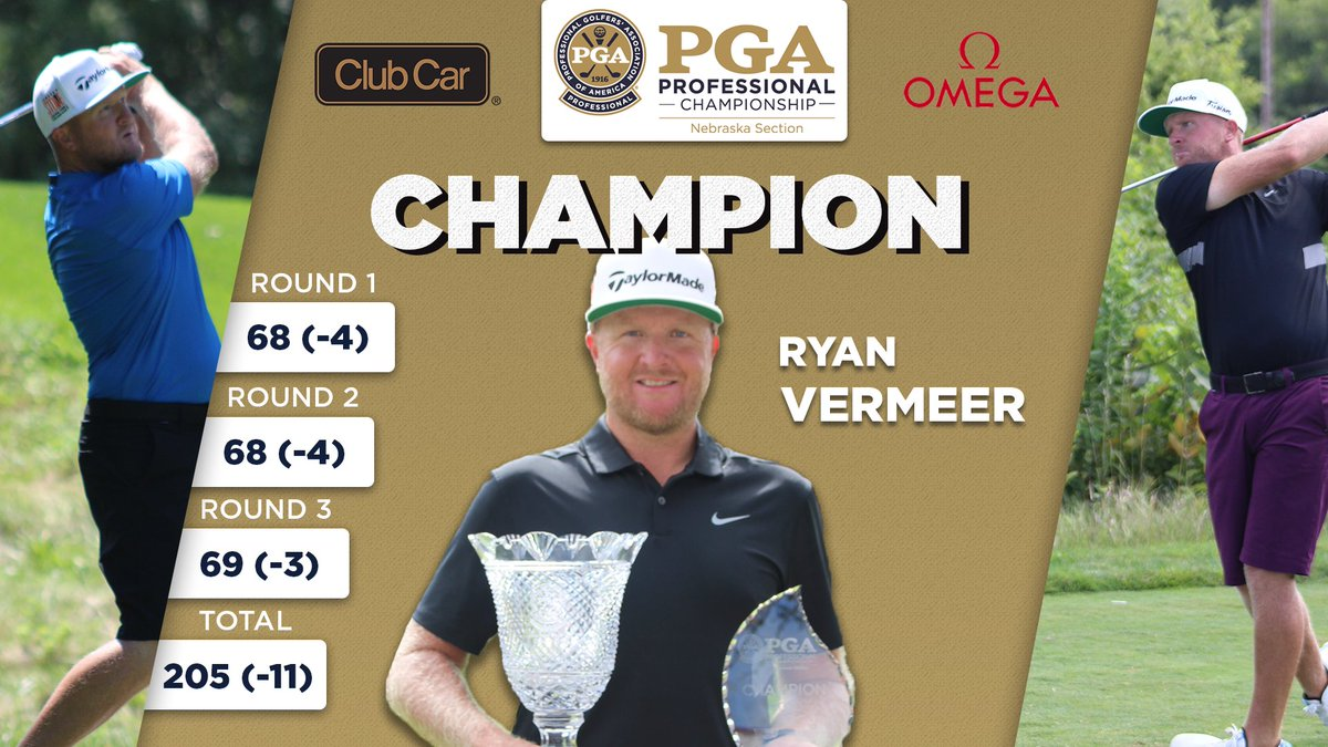 Add another trophy to the case! @Golf_RV was able to win his third consecutive Nebraska Section Championship after shooting a 3 day total of 205 (-11) at ArborLinks golf course! Great job Ryan! https://t.co/ibCrkGiDjC