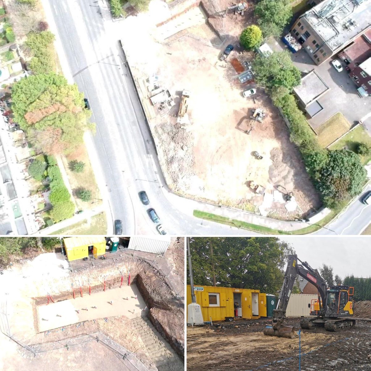 Works now well underway on the site of the former Crofters Lodge PH in #Kenton #Newcastle for a #PFS development - @DynamicTP supported with #TransportAssessment and #HighwayDesign works https://t.co/nFP4tJHANP