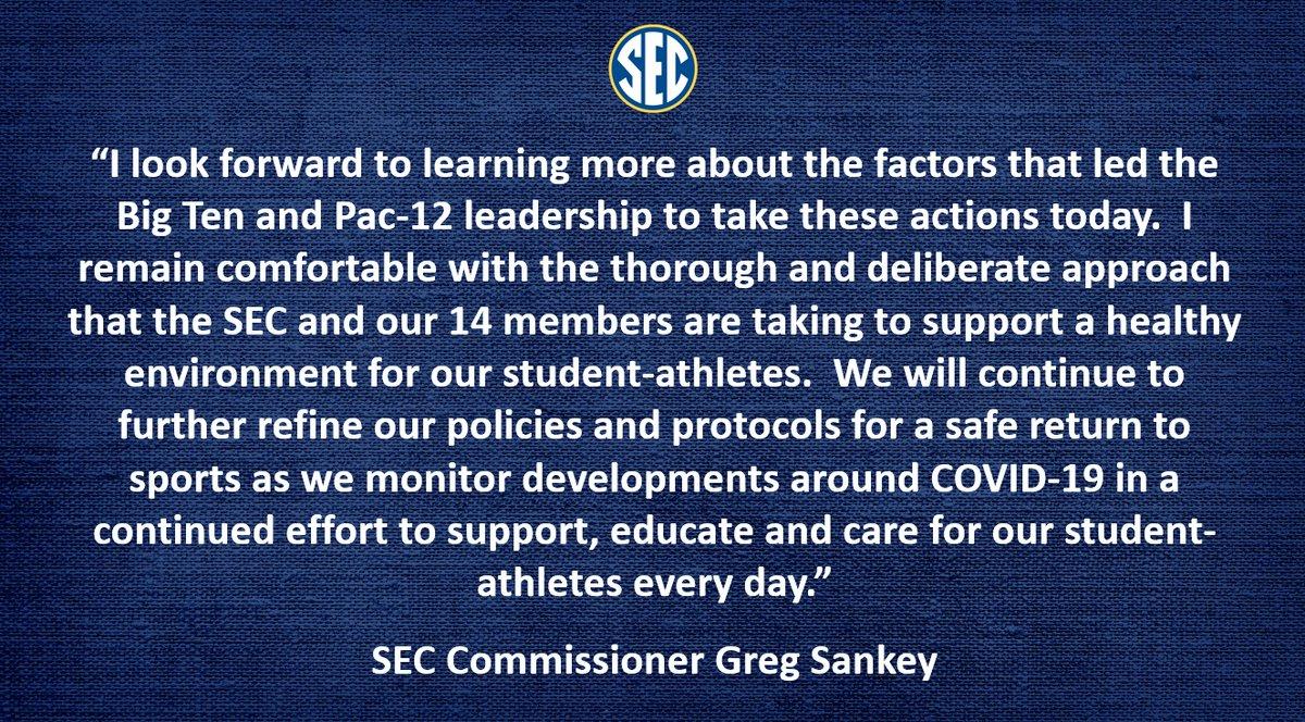 RT @SEC: Statement from @SEC Commissioner @GregSankey https://t.co/8nyweGPBk1