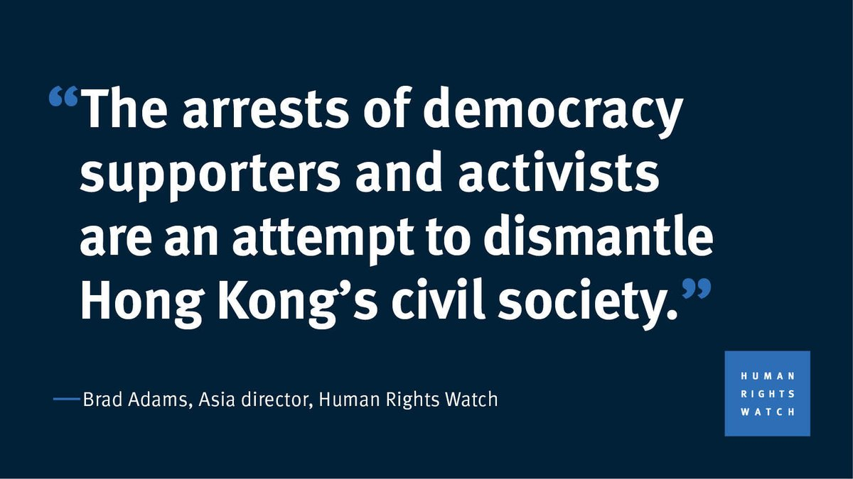 Quote of the Day, by @BradMAdams   Hong Kong authorities should immediately release 10 pro-democracy figures arrested on August 10 and drop all charges against them. https://t.co/dECCNjkcfU https://t.co/lWkcI7wPUP