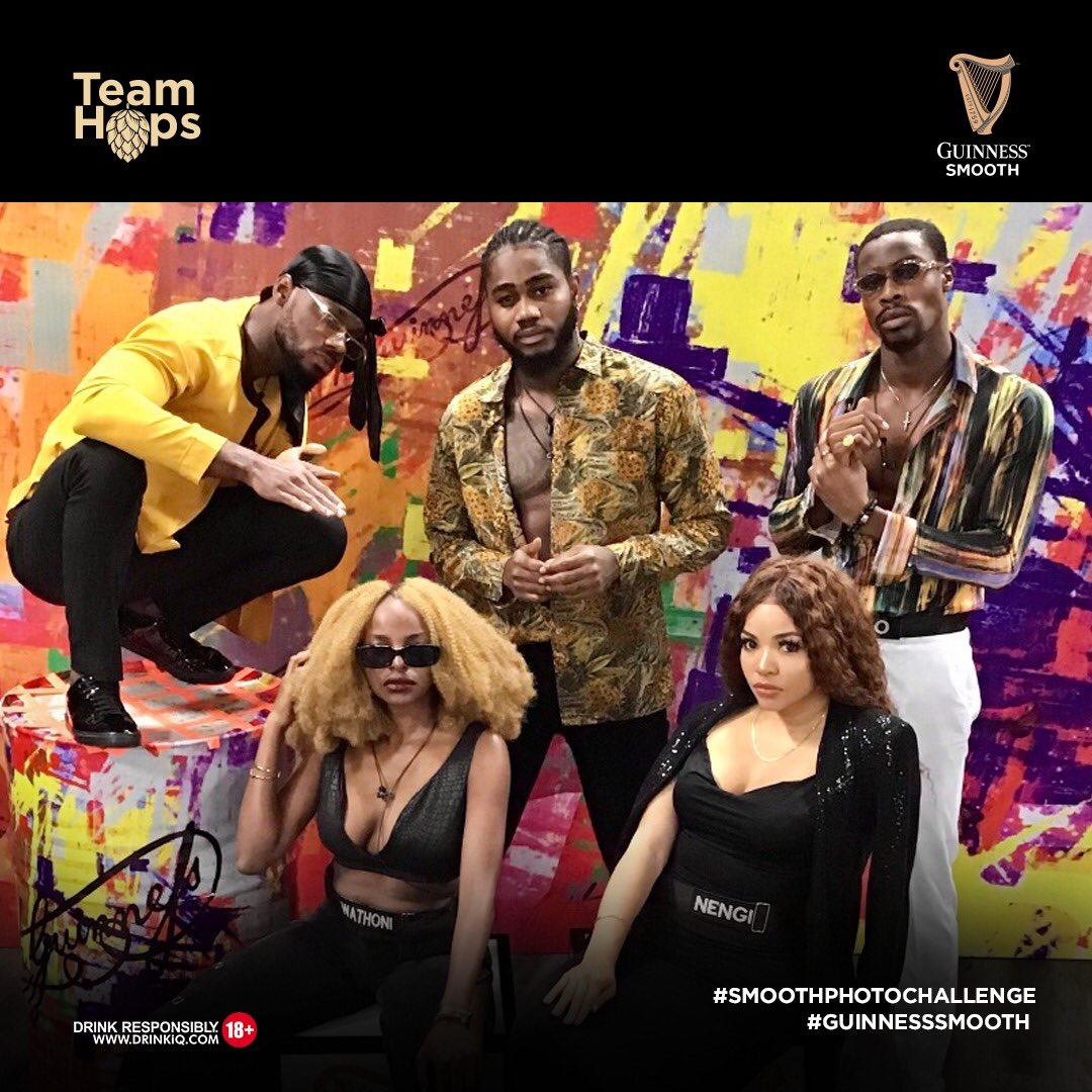 Is Team Hops the smooth operator? Retweet to help Team Hops win N1M in the #SmoothPhotoChallenge. The team with most retweet wins! Dont let us down. @BBNaija #GuinnessSmooth #BBNaija
