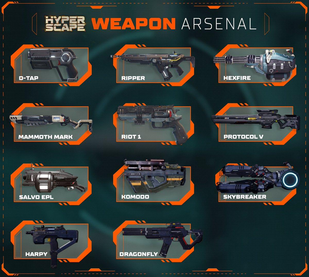 Оружие в Hyper Scape.