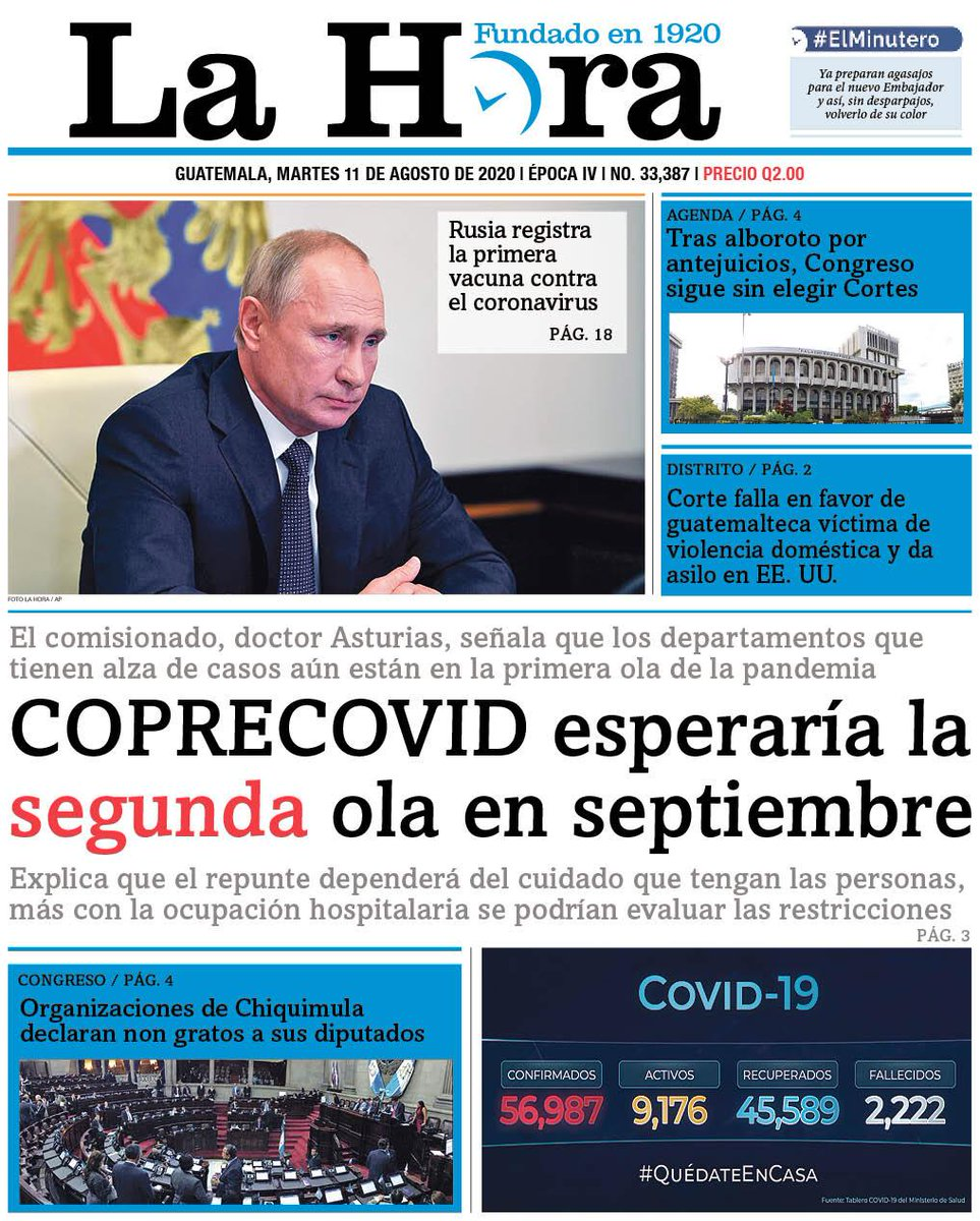 test Twitter Media - #PORTADADEHOY COPRECOVID esperaría la segunda ola en septiembre 👉🏽[https://t.co/NCgIxS7RFd] https://t.co/UmK15frMG7