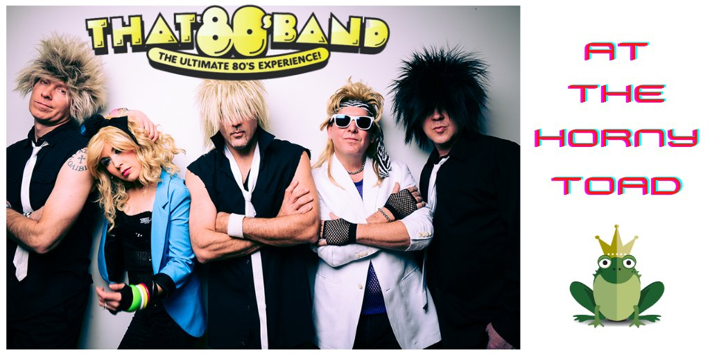 Are you ready for the ultimate 80's experience? 💥 Don't miss That 80's Band at the Horny Toad this Friday & Saturday at 9pm - no cover! 🐸🙌  #livemusic #80sparty #hornytoads #lakeoftheozarks #loz https://t.co/eaVOqVn0Mb