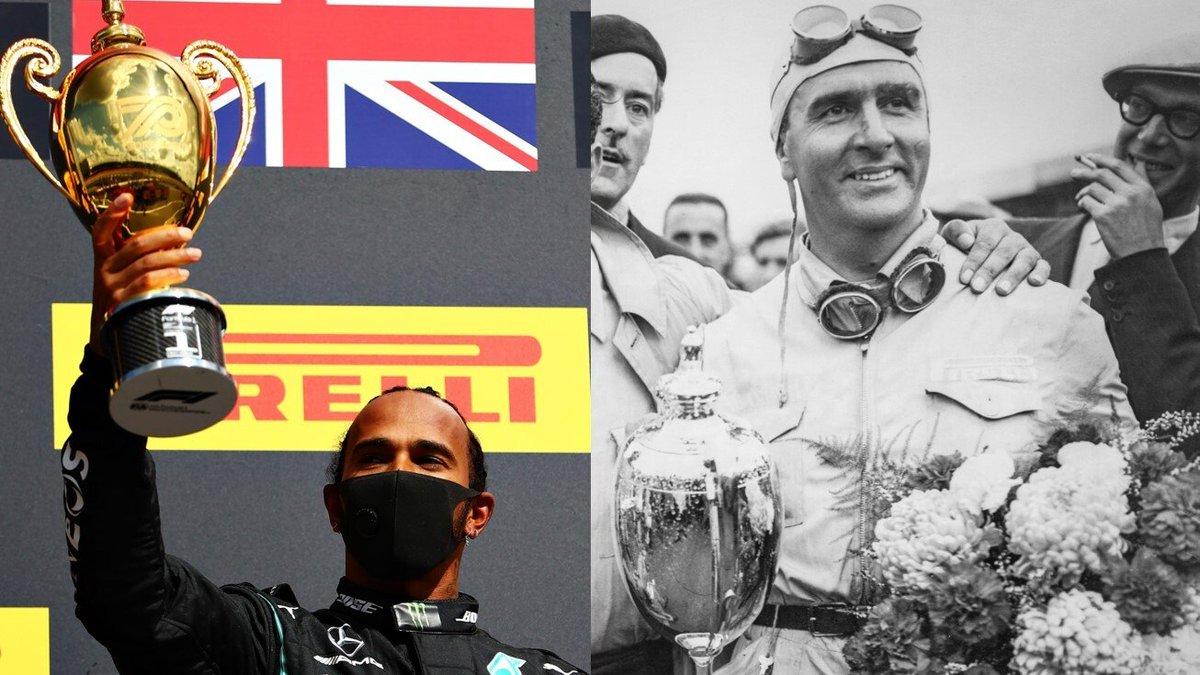 Silverstone'da #BritishGP olarak düzenlenen ilk yarışta nostaljik tasarımlı kupa verilirken, #F170 (70. Yıldönümü GP) olarak düzenlenen ikinci yarışta modern tasarımlı kupaların verilmesi garip değil mi? #F1 https://t.co/PLjIGLuRAN