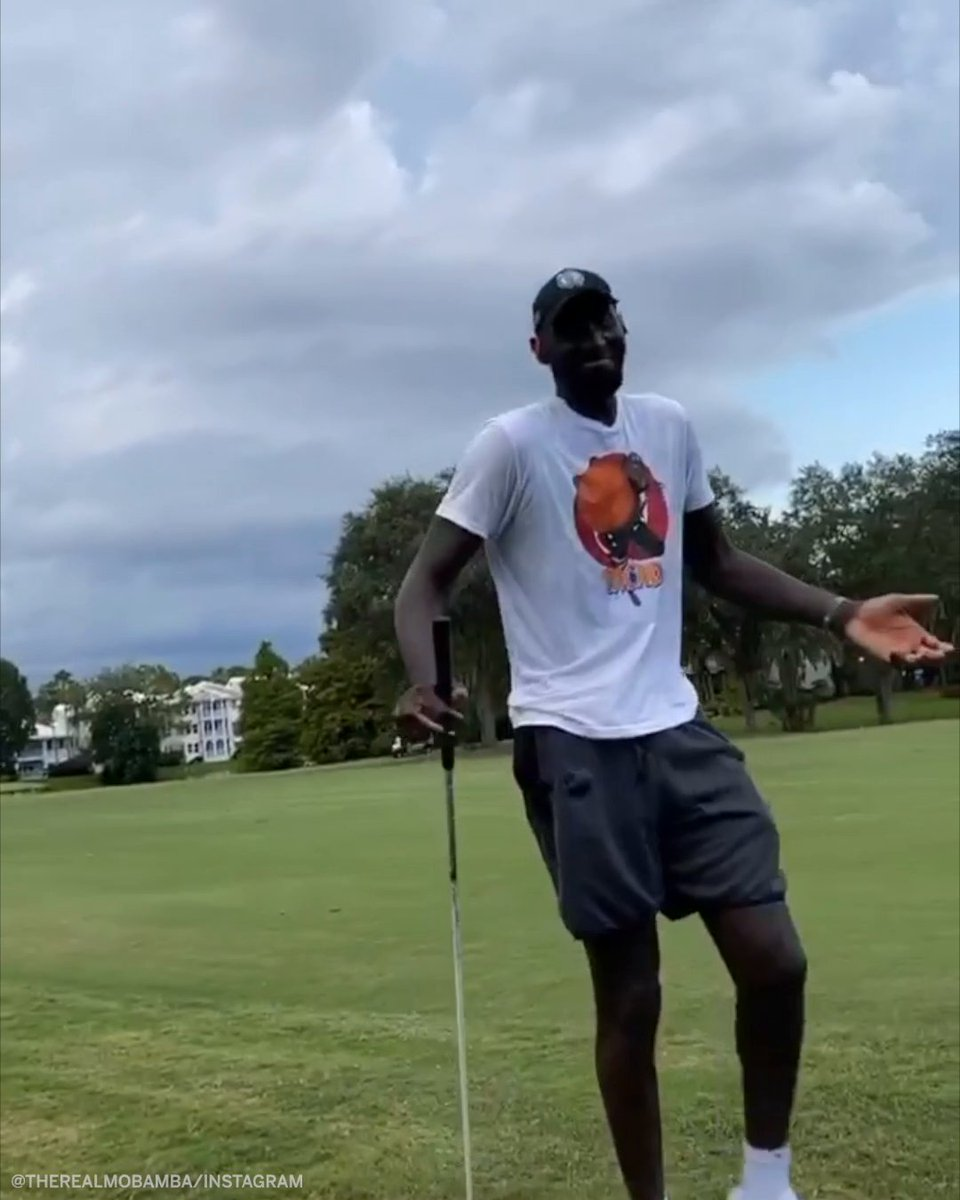 Tacko Fall golfing is a sight to behold 👀  (via  therealmobamba/Instagram) https://t.co/cs0p3khGvI