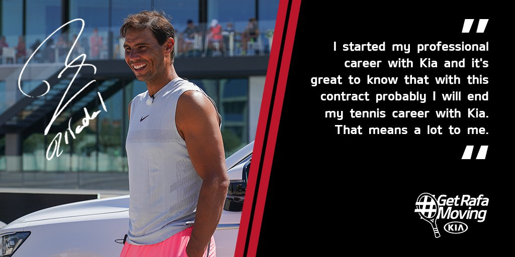 We've been moving with @RafaelNadal for 16 years, we're delighted to continue for another 5. Vamos Rafa!  #GetRafaMoving #KiaQatar https://t.co/4DZeS3MmpM