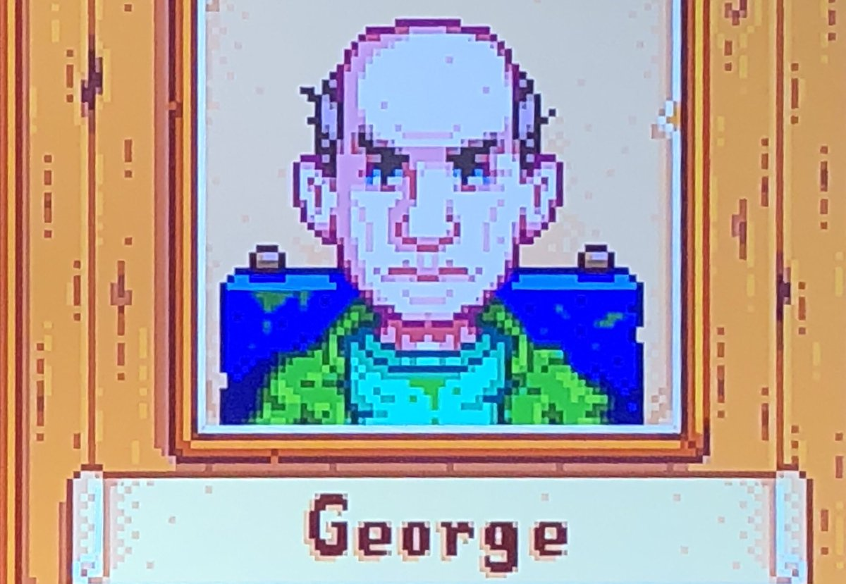 Brent Black On Twitter George In Stardew Valley Is Just Tommy Lee Jones With Less Hair In penny's two hearts event , it's revealed that george 's surname is mullner. twitter