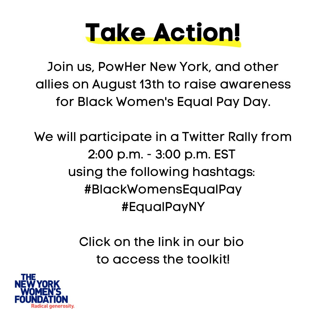 Today! #BlackWomensEqualPayDay ! https://t.co/q9QG8WFWpH