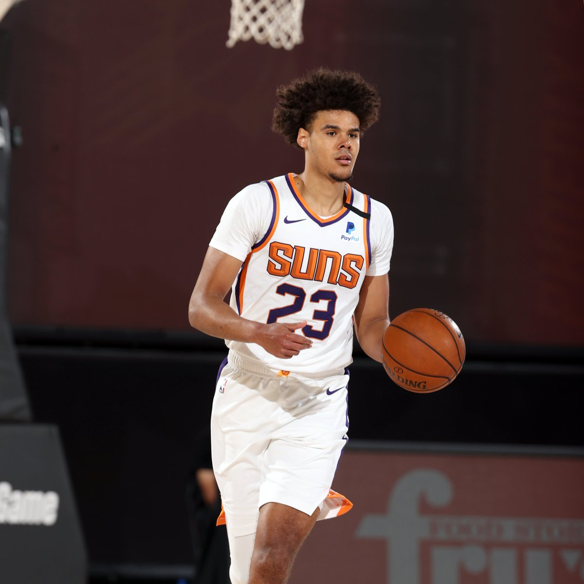 50/40/90 splits for @Suns in Orlando:  Cam Johnson:  50.8 FG% | 40.0 3P% | 100 FT%  Dario Saric:  53.1 FG% | 43.8 3P% | 92.6 FT%  Jevon Carter:  50.0 FG% | 52.2 3P% | 100 FT%  Phoenix looks to win 7th straight as it takes on PHI at 4:30pm/et on NBA LP. https://t.co/l50C9EFXHq