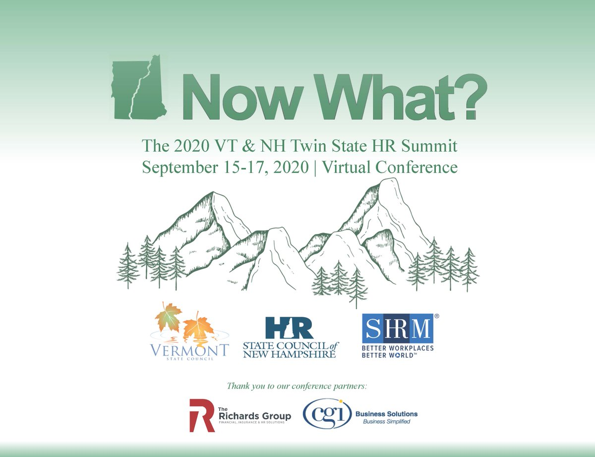 The HR State Councils of NH & VT are collaborating to provide HR pros with the latest info during this crazy year!Looking forward to presenting at this virtual summit.