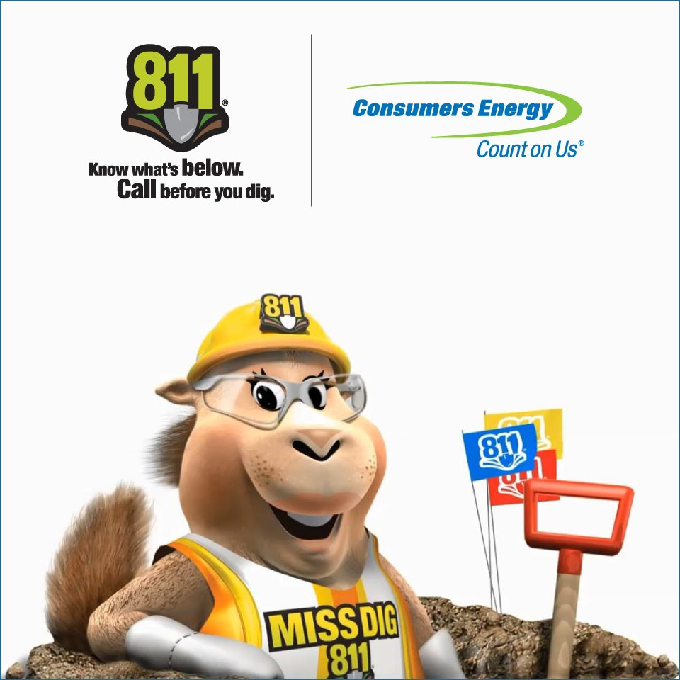 Consumers Energy On Twitter Are You Having Work Done In Your Yard Have Your Contractor Contact 8 1 1 Three Days Before Your Project It S The Law Call811 811day Https T Co Hoqz7pip3m Https T Co Lyctfc8pak Powering michigan homes and businesses for more than a century. twitter
