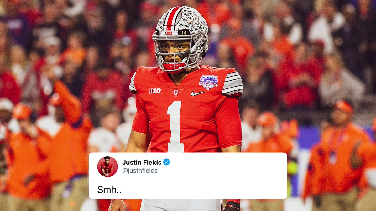 Fox College Football On Twitter Justin Fields Reacts To The Big Ten Postponing The College Football Season He has worked at such studios as amalgamated dynamics, inc., imaginary forces. twitter