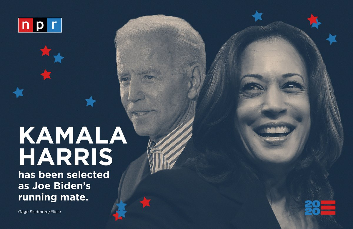 Npr Politics On Twitter Breaking Joe Biden Has Selected Kamala Harris As His Running Mate She Ll Be The First African American Nominated For Vice President By A Major Party Https T Co Ih1d5b0m6y Https T Co Wpptskszri