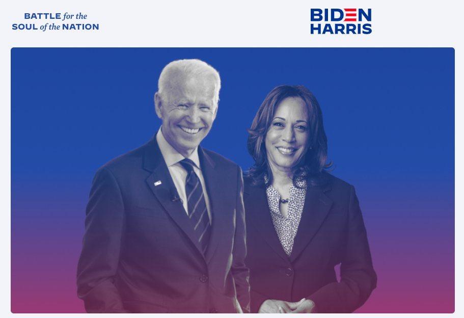 The 2020 Democratic ticket: Joe Biden and Kamala Harris — from Biden's website