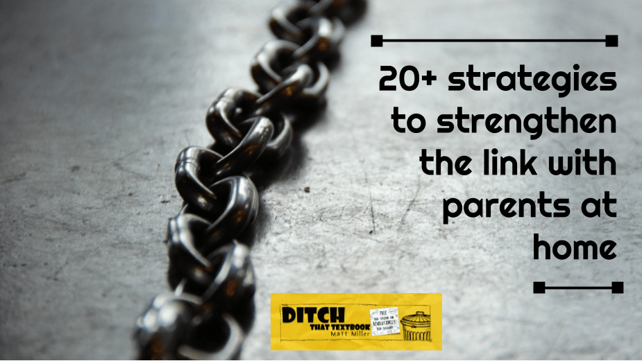 20+ strategies to strengthen the link with parents at home ditchthattextbook.com/2017/12/08/20-… #ditchbook