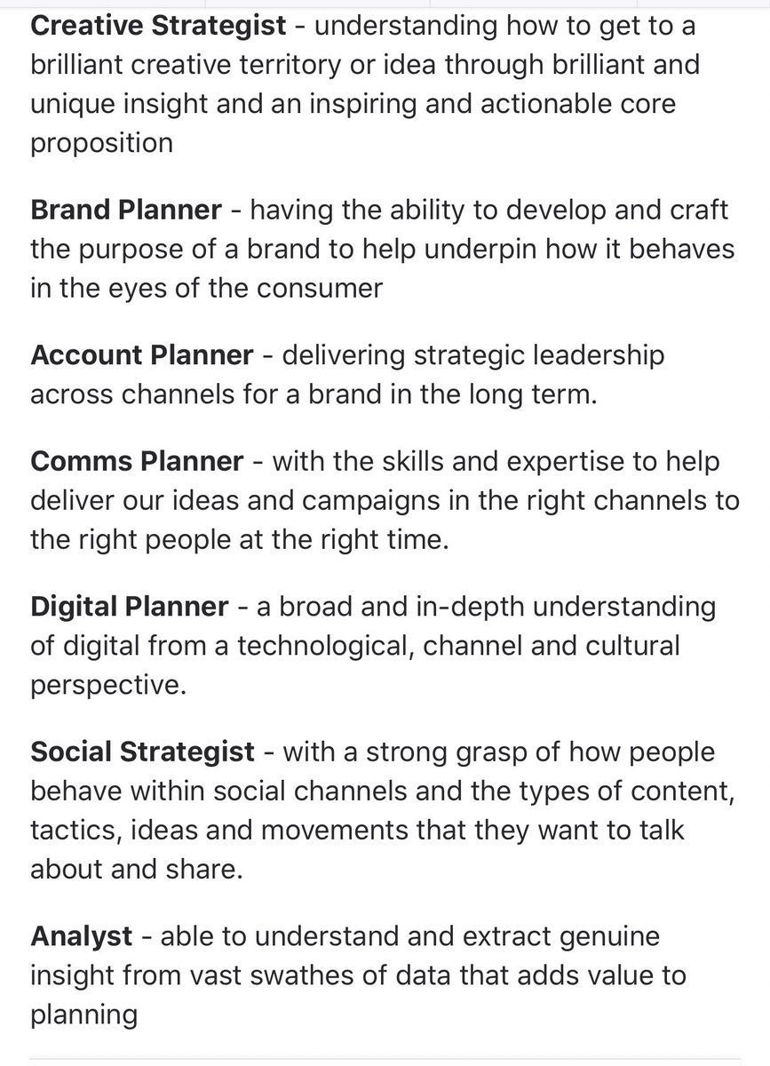 What is the difference between a Planner and a Strategist? Planners/strategists sometimes do all of these, or just simply specialise in a few, or even just one (although the lines are often blurred). Via Oliver Budworth.