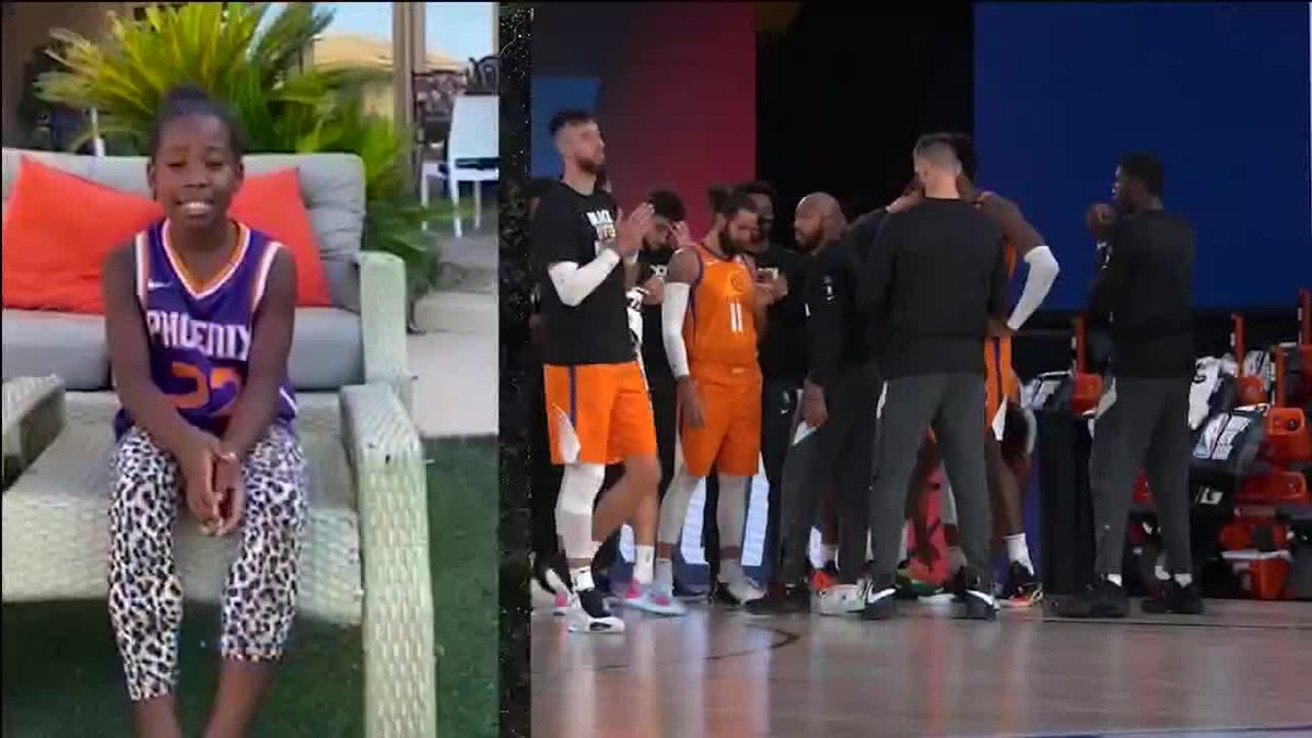The Suns surprised their players with starting lineups announced by their families at home ❤️ https://t.co/QP72UuqdS7