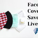 Image for the Tweet beginning: Using face coverings help prevent