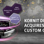 Image for the Tweet beginning: BREAKING: Kornit Digital Acquires @CustomGateway,