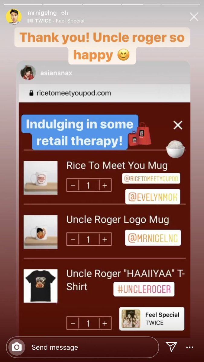 uncle roger using feel special on instastory :D #TWICE #feelspecial https://t.co/6J51sZezfi