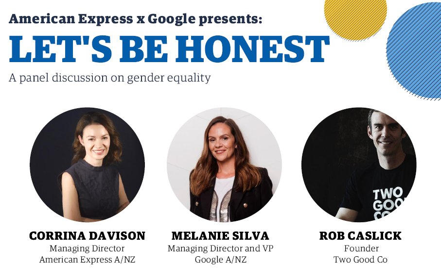 @amexau hosted #LetsBeHonest a panel discussion with @Google about inclusion & diversity in the workplace. MD Corrina Davison spoke passionately about our commitments to gender equality and making sure Amex is place where all colleagues feel that they belong. #genderequality https://t.co/1UnhbaQaqN
