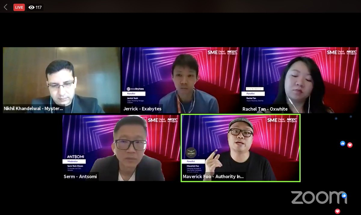 """""""MCO caused a trend in using livestreams & webinars among businesses. And this trend continues on and has become a crucial marketing strategy"""" - Rachel Tan, Oxwhite  Join the conversation: https://t.co/FIANaixl1K  #SMEDigitalSummit - Day 2 #100GoDigital #SayaDigital https://t.co/cs2Fw8Yl3p"""