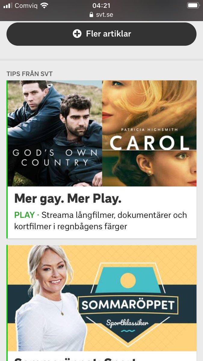 Mer Gay. Mer Play.  SVT's nya slogan. https://t.co/EDKo4BDkqj