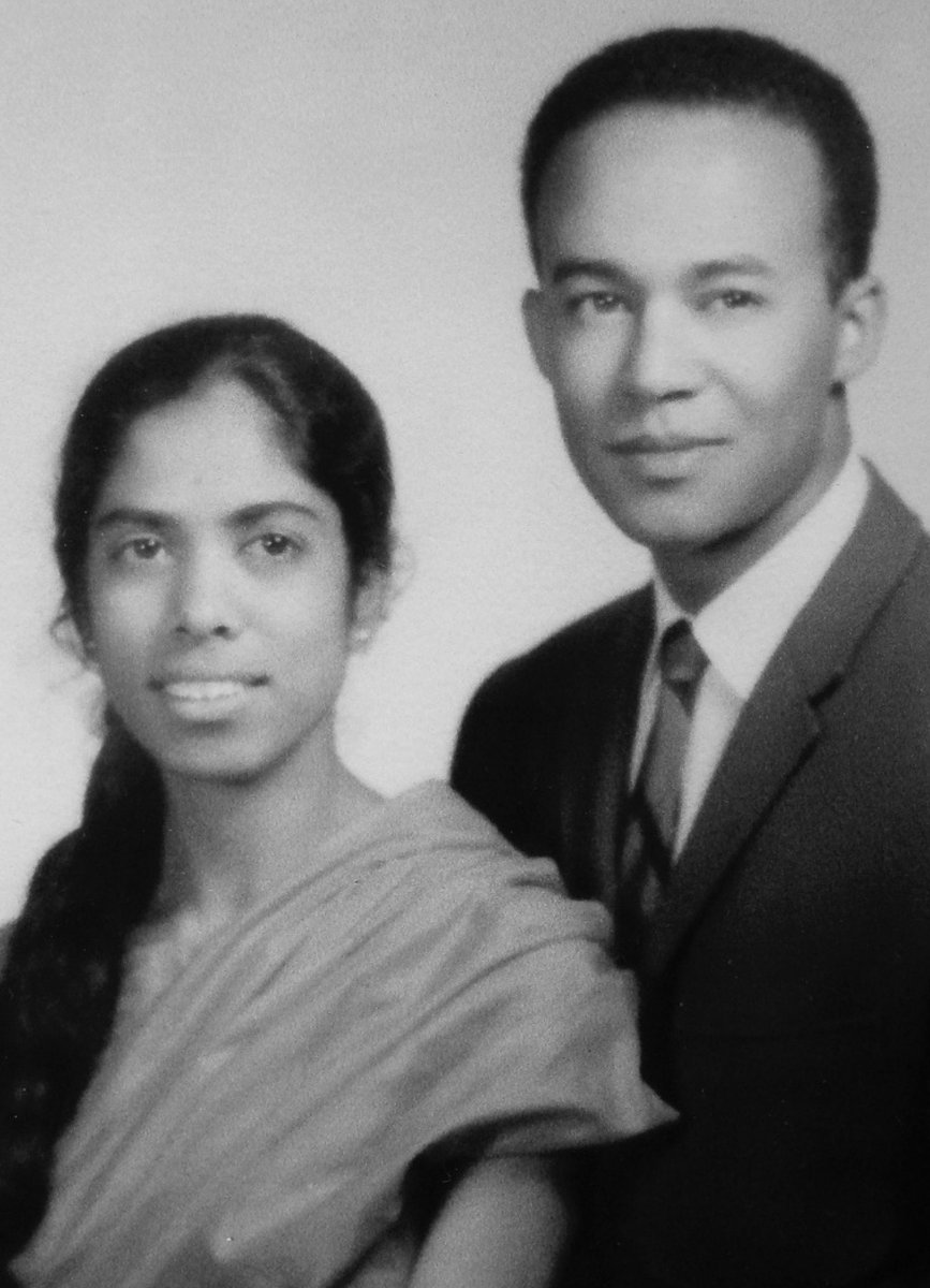 Kamala Harris's immigrant parents--Shyamala Gopalan and Donald Harris: