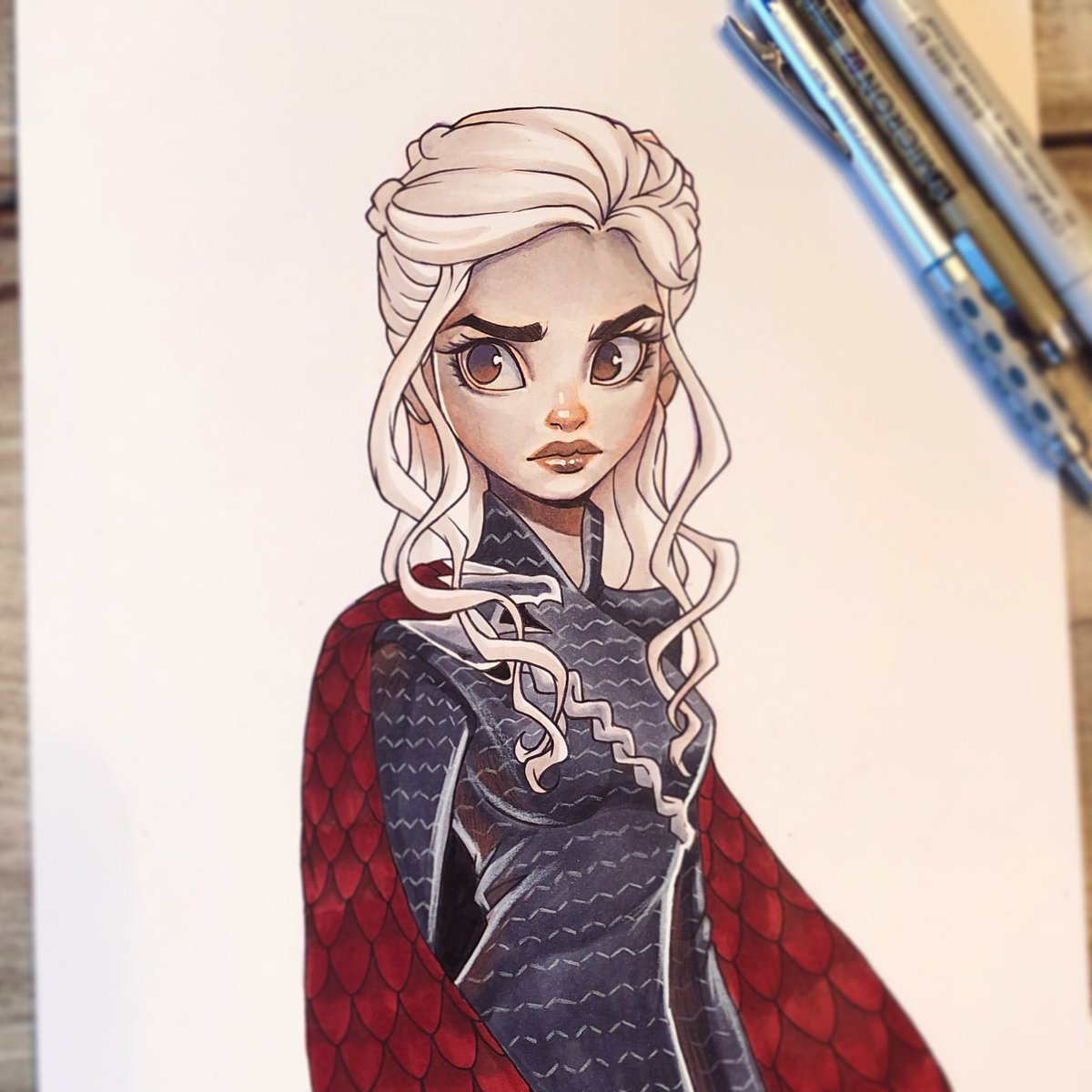 Daenerys commission 🐉. I miss waiting for new episodes of GoT 😭... #sketch #doodle #drawing #art #traditionalart #animation #cartoon #daenerystargaryen #gameofthrones #emiliaclarke #artists #artistsoninstagram https://t.co/zhNgRjvS2a