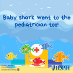 Image for the Tweet beginning: Baby shark...went to the pediatrician