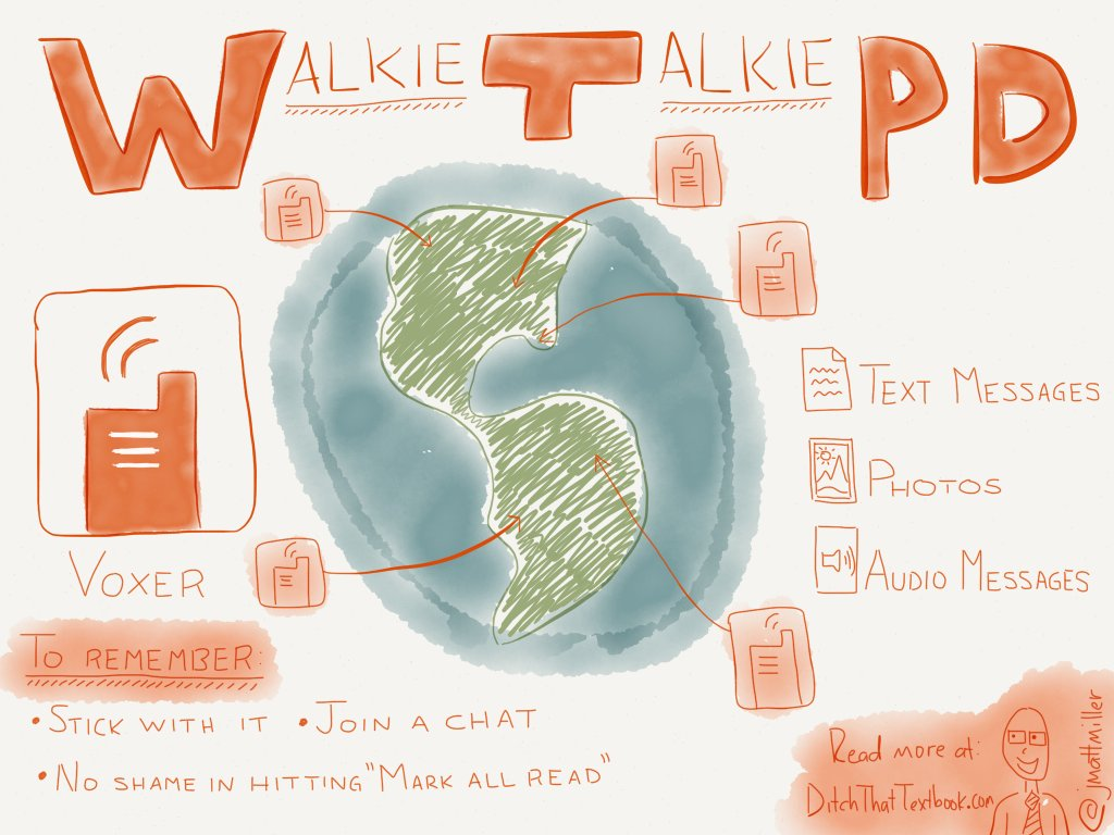 Trying professional development walkie-talkie style with Voxer ditchthattextbook.com/2014/10/27/try… #DitchBook
