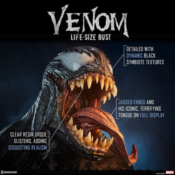 This Venom Bust makes a monstrous impression! buff.ly/2Ki8S1O #SideshowCollectibles #Marvel #Venom