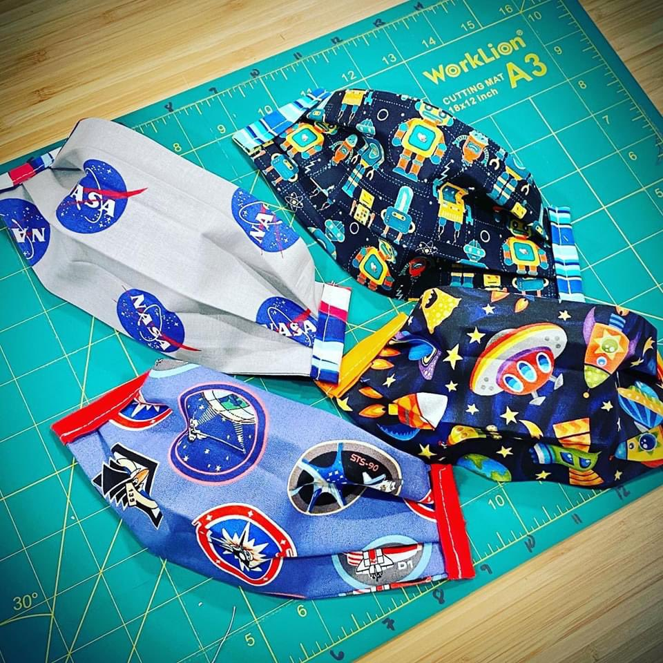 To infinity and beyond! Outer space inspired children's face masks for all the future astronauts and stargazers out there  🪐💫🚀🛸👽   Shop: https://t.co/5JZ0oLGxtf  #backtoschool #livevaccarously #toinfinityandbeyond #nasa #ufo #etsy https://t.co/ukKNSqX9zi