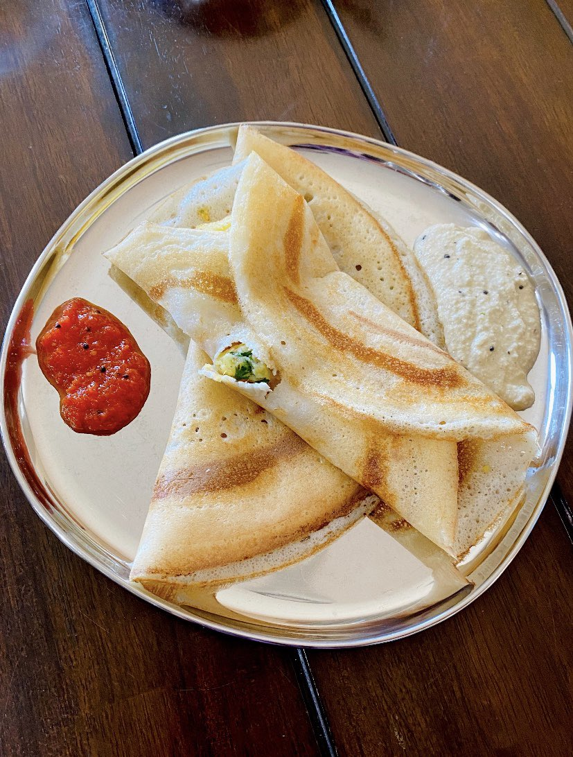 I get way too much happiness from eating Dosa! 😋 #dosasquad @AnastasiaSMihai