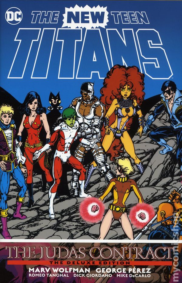 mid-80s, elementary school and jr. high years, I was blown away by the Judas Contract in Titans, and then the big daddy of them all, #CrisisOnInfiniteEarths. Imagine a creative time like Wolfman & Perez producing two timeless classics like this a year apart??