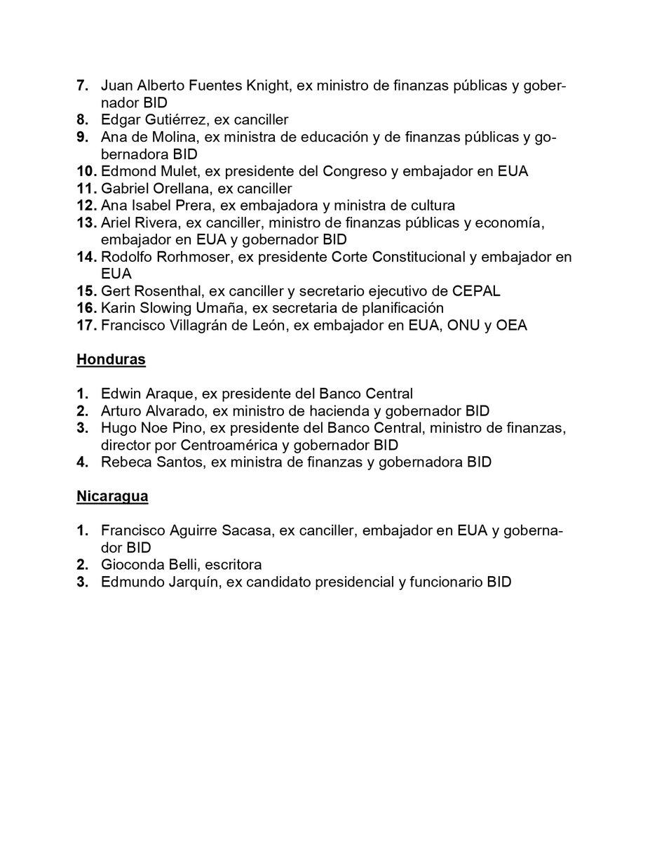 test Twitter Media - Exfuncionarios de varios países, entre ellos de Guatemala, manifiestan su apoyo a la propuesta de postergar la elección del presidente del Banco Interamericano de Desarrollo. https://t.co/bitRZuzPqh
