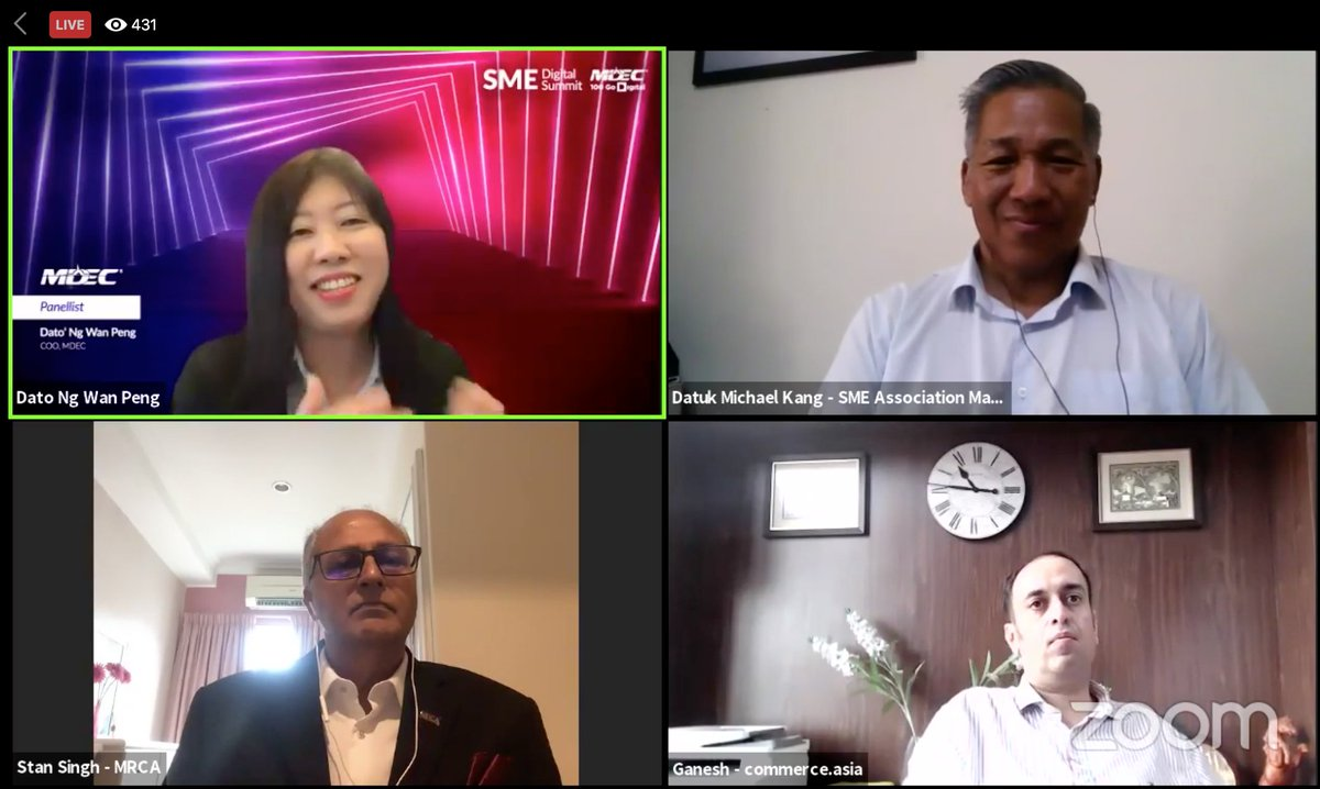 """""""Start small. Having a social media account for your business is actually a step into digitalisation already. Use technology where it can help your business to grow"""" - @WanPengMDEC, MDEC  Join the conversation: https://t.co/FIANaixl1K Or watch the FB Live: https://t.co/S9u8KrSPvj https://t.co/dijgaqLx9L"""