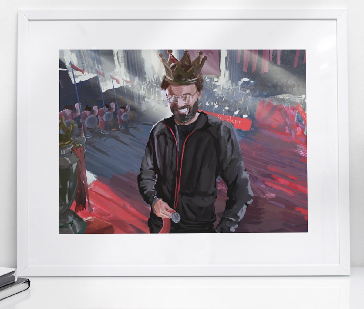 🙏 30 Year Wait Over - Thank you Jurgen  👑 CROWNING GLORY 🏆  🖼️ Stunning NEW Portrait by @andy__gfx inspired by #LFC manager Jurgen #Klopp.  📏 Sizes: A5, A4, A3  📦 Fast Worldwide Shipping  🔟 Get 10% OFF with Coupon Code - 10OFF  ➡️ From only £9 at https://t.co/25Dwu5OLg6 https://t.co/pmaVFKtBQh