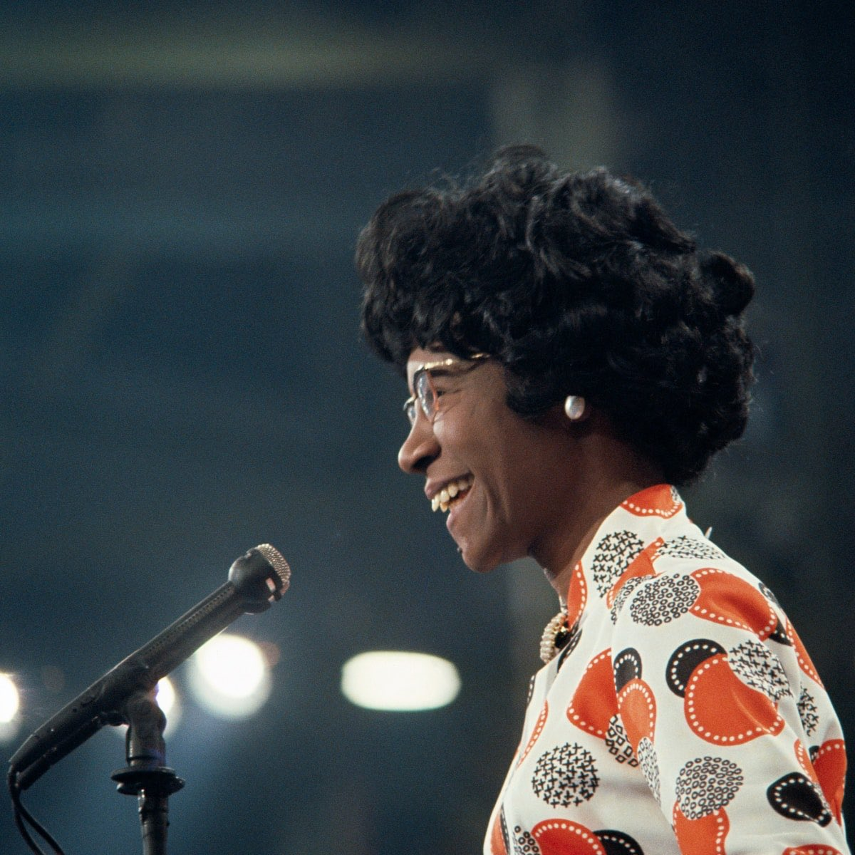 "Tonight, I remember Shirley Chisholm. In 1972, she said: ""I want history to remember me not as the first Black woman to run for the presidency, but as a Black woman who lived in the 20th century and dared to be herself."" Rep. Chisholm paved the way for Senator Harris. An icon."