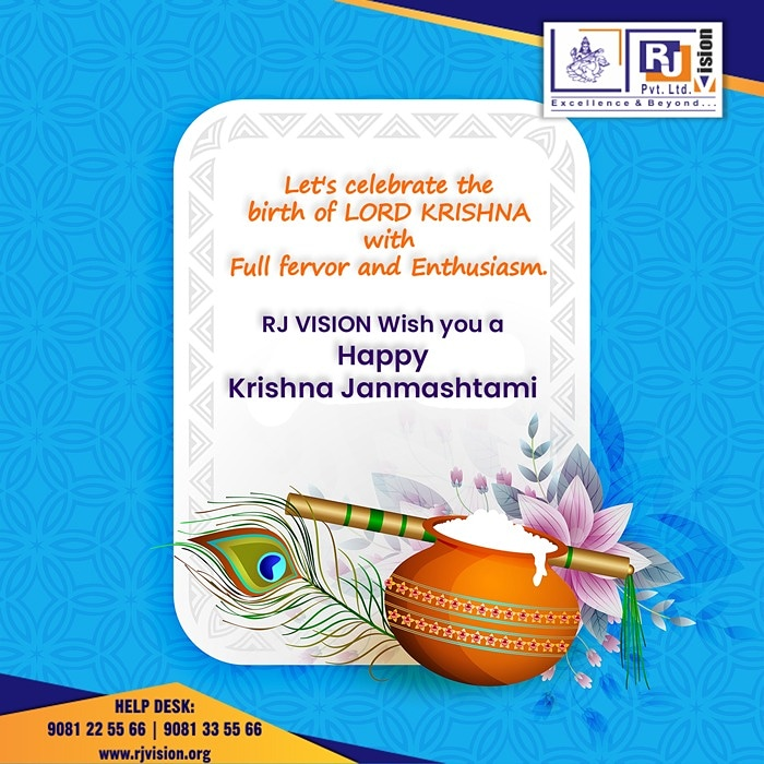 Let's celebrate the birth of Lord Krishna with fervor & Enthusiasm.!!! #rjvision #neet #jeemains #9cbse #9gseb #10gseb #10cbse #COVID-19 #Stayhome #stayconnectrjvision https://t.co/z7RvDcOdIh