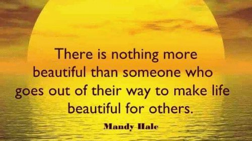 Wednesday Friendly Reminder...There is nothing more beautiful than someone who goes out of their way to make life beautiful for others 🙌🧡 #WednesdayWisdom