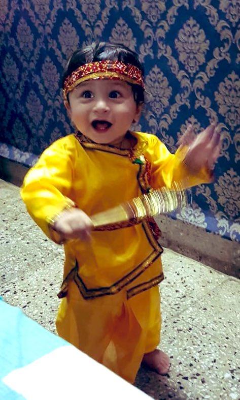 #जन्माष्टमी #श्रीकृष्ण_जन्माष्टमी #श्रीकृष्णशरणमममः🙏🏻🙏🏻  #nephew #cutestkanha https://t.co/Zsh7y0JuhP