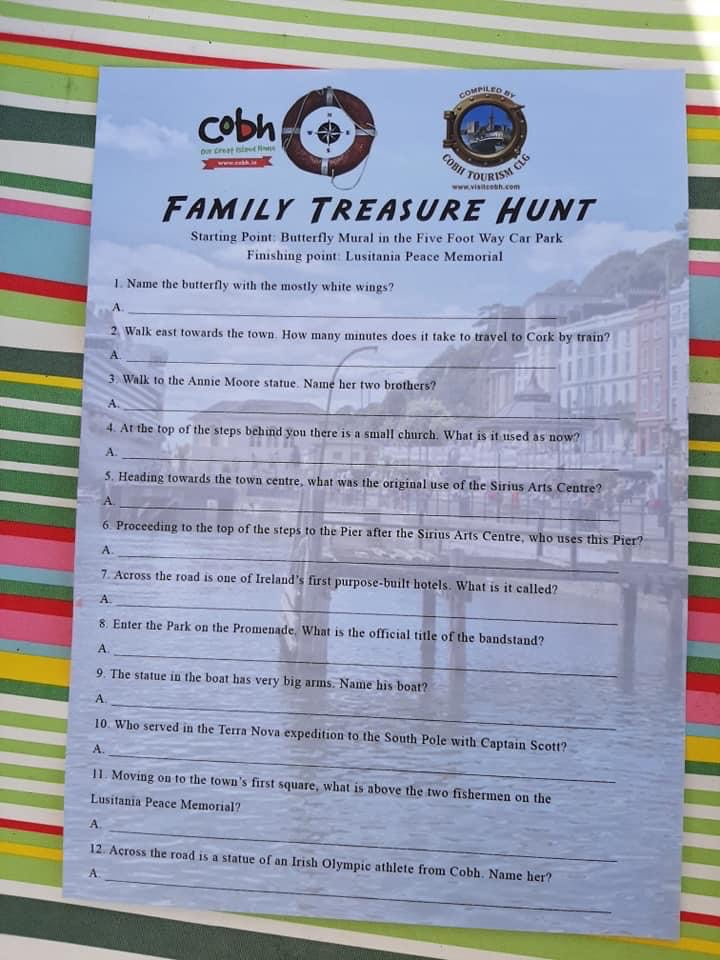 The best things in life are free! Pick up your free Family Treasure Hunt sheets from Cobh Tourist office @cobhHertigeCen @WatersedgeCobh @CorkHarbourBH Truly Scrumptious Caterers Cobh, @CommodoreCobh @bellavistacobh  Fun for all the family as you journey through Cobh. https://t.co/ihGuhvS3XF