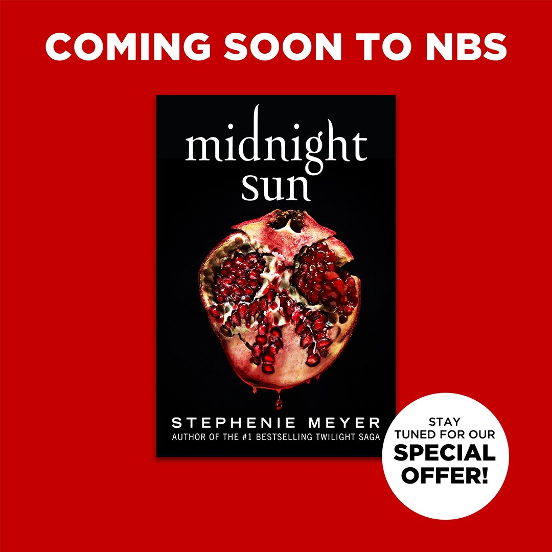 The long-awaited companion novel to the Twilight Saga is coming SOON to NBS: Midnight Sun by Stephenie Meyer!  Sign up for the wait list to be notified as soon as it's available: . #MidnightSun #NBSNewReads #NBSeveryday
