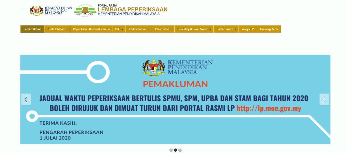 bernama tv على تويتر peperiksaan bertulis sijil pelajaran malaysia ulangan spmu tahun 2020 akan bermula pada 17 hingga 19 ogos 2020 untuk maklumat lanjut sila layari https t co ev4xopikno https t co t4izb8wgjr sijil pelajaran malaysia ulangan spmu