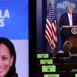 Image for the Tweet beginning: Trump om Kamala Harris: -