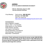 Image for the Tweet beginning: WED afternoon #lacity Commission on