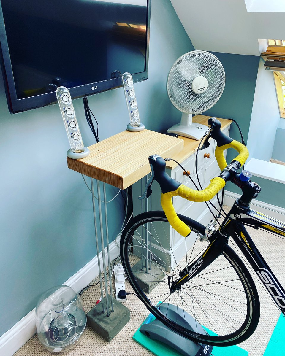 test Twitter Media - Upcycling for cycling . Just finished my laptop stand for my #gozwift setup and I'm liking it. Made from old speaker stands and bed slats. #upcycling #cycling @GoZwift https://t.co/9stYPGIzJj